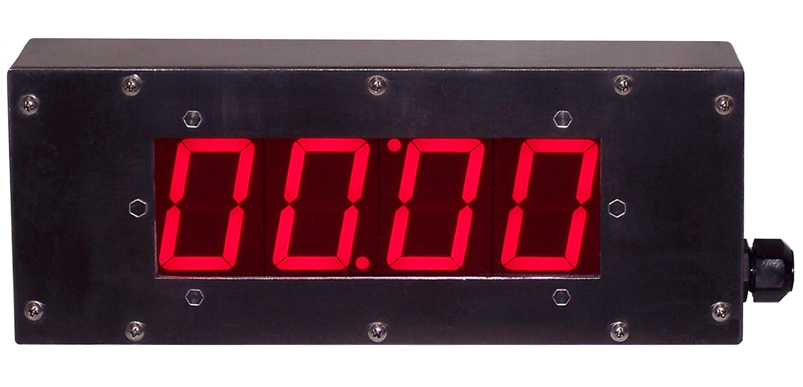 Digital LED electronic timer in a stainless steel enclosure
