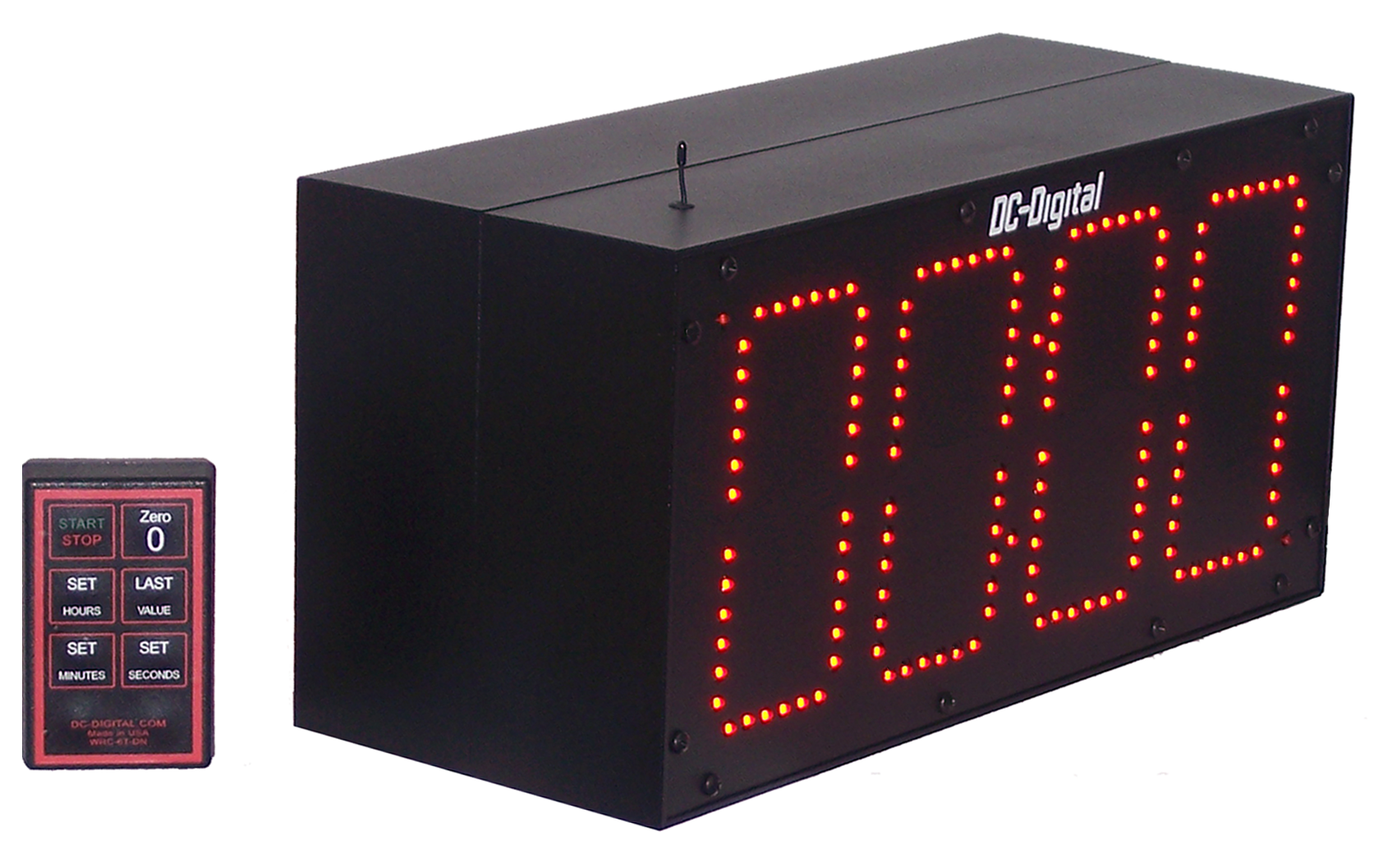 Double Sided Speech Conference, session clock timer, countdown wireless rf controls, all aluminum enclosure