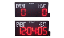 DC-806S-W-SWIM-MEET display with 8 inch 6 digit clock
