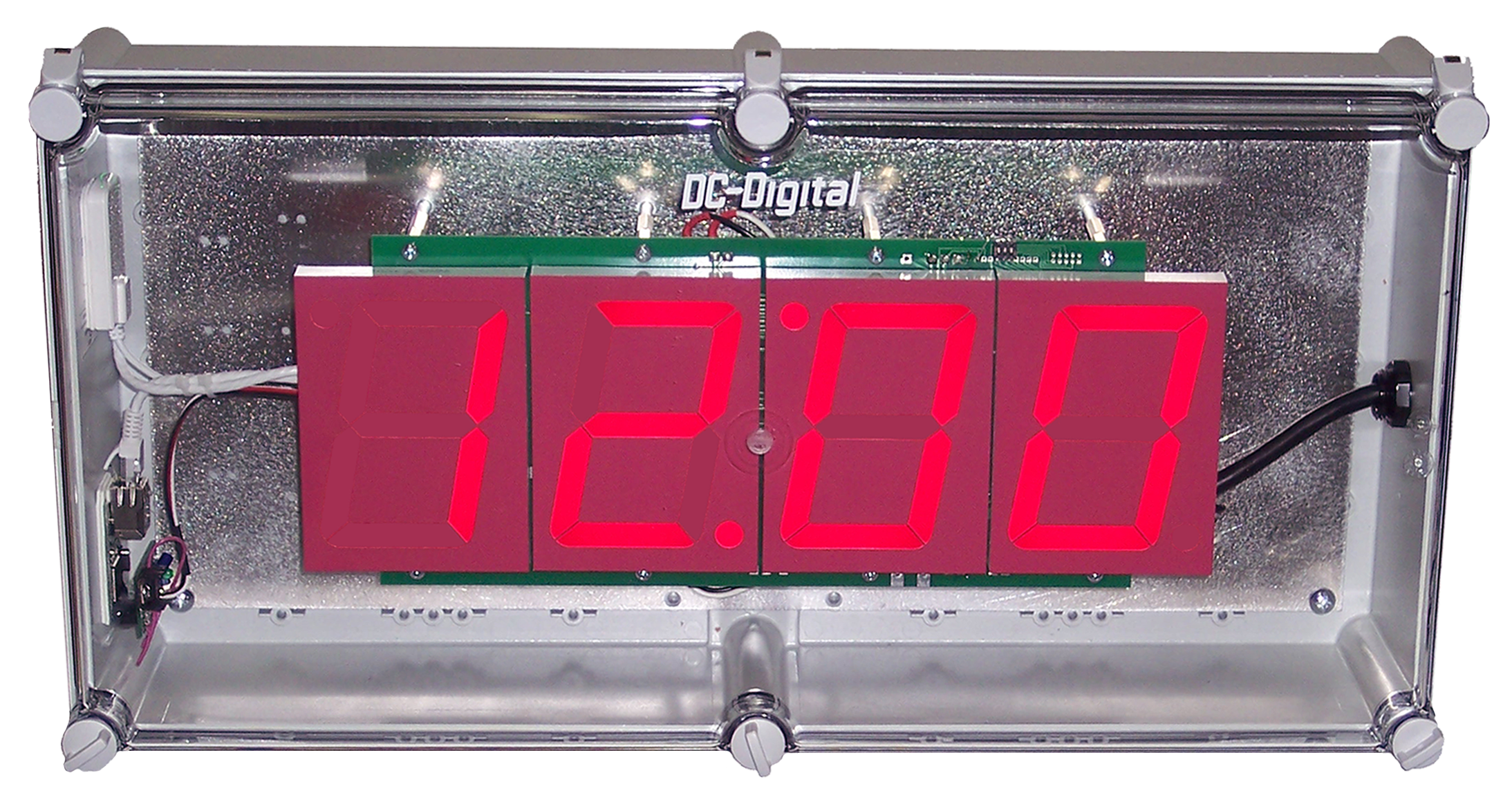 4 inch LED DIGITAL WIFI NTP network clock NEMA 4x enclosure