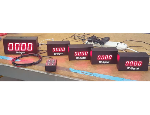 Custom Synchronized LED Digital Timer system