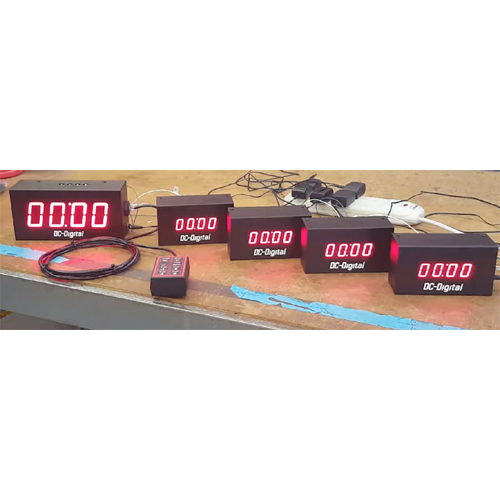Synchronized countdown count up timer system
