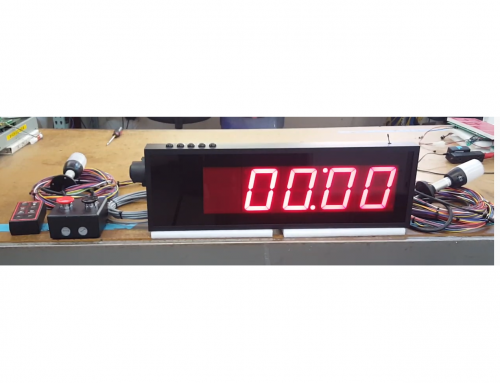 Negative Countdown LED Production Timer with ANDON Lights and Audible Indicators