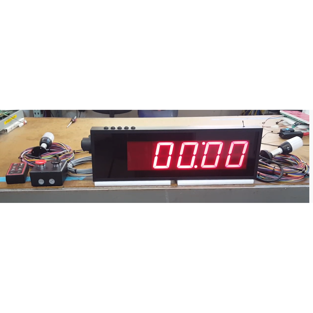 Negative Countdown Timer with ANDON Lights and Audible Indicators
