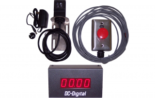 Complete all in one process timing package - sensor - 1 inch digital LED display - remote reset switch