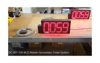 Synchronized digital countdown timer system with footswitch activation