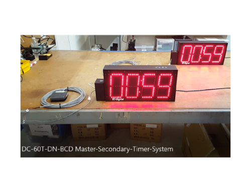 Synchronized digital LED countdown timers with footswitch activation