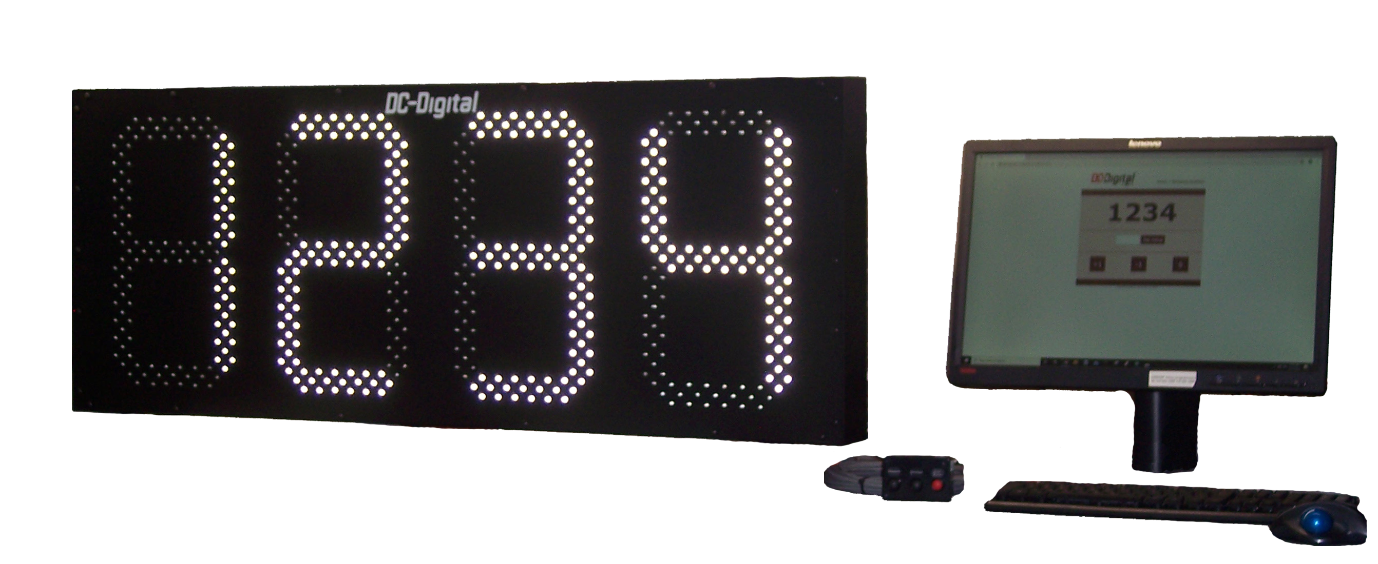 15 Inch Network controlled white LED count up Days display