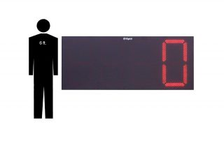 30 Inch Led Digital Lap Counter with Wireless RF Controller