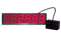 6 Digit Days Counter 2.3 Inch LED wired remote controls Less Case