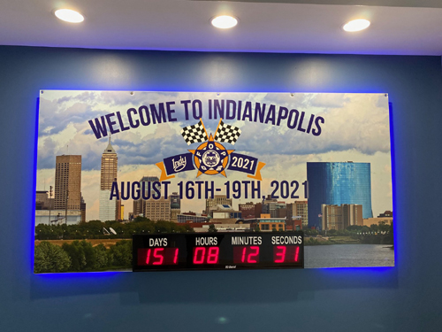 4 inch LED Digital Countdown Days hours and Minutes to the FOP Convention in Indianapolis