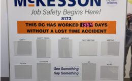2.3 Inch LED OEM Safety days timer display