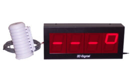4 Inch LED Server Room Temperature Display and Wired Probe