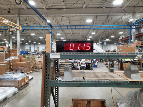 Sealed Air DC-405T-DN 4 inch Led countdown and Count up timer with minus sign to show timer had passed 00:00 minutes